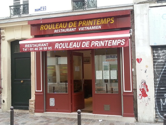 Frontage of the restaurant Rouleau de printemps