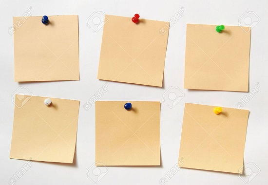 3379520-note-Paper-a-note-attached-to-a-wall-buttons-it-is-isolated-on-a-white-background-Stock-Photo